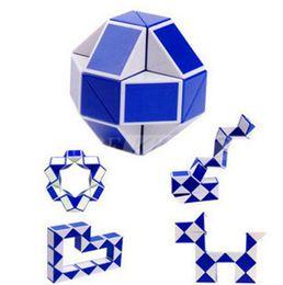 Wholesale Intelligence Games Kids - Wholesale Mini 24 Parts Magic Snake Shape Toy Game 3D Cube Puzzle Twist Puzzle Toy Gift Random Intelligence Toys Educational Puzzle Magic