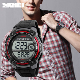 Wholesale Resin Tables - Hot sale explosion of cool fashion sports watch men swimming waterproof electronic table student English Watch