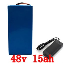 Wholesale 48v Lifepo4 Battery - EU US no tax 48V 15AH electric bike battery lithium battery LiFePO4 1500 times cycles with charger and BMS with PVC case