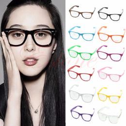 Wholesale Men Geek Glasses - Fashion Cool Unisex Clear Lens Wayfarer Nerd Geek Glasses Eyewear For Men Women