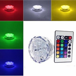 Wholesale Underwater Flash Lights - 7x2.7CM AAA battery operated LED Candle light RGB flashing IP65 waterproof underwater tealight with 24 key romote controller