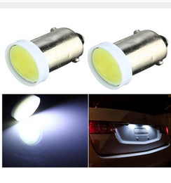 Wholesale Led Car Bulb Ba9s - BA9S COB 6 led chip Car Side Tail Signaling Wedge Bulb Clearance Dashboard License Plate Light Universal Instrument Lamp
