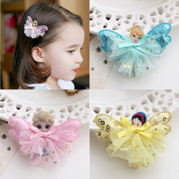 Wholesale Hairbows Character - 1-8 years old baby girl Korean children hair hairpin hair clip frozen Princess headdress hairpin hairpin cheap shipping