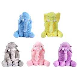 Wholesale Animal Pillow Blanket - High Quality Infant Soft Appease Elephant Toy Playmate Calm Doll Baby Toys Elephant Pillow with Blanket Birthday Christmas Gift