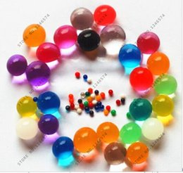 Wholesale Crystal Gel Beads - Wholesale- 100pcs 10-12mm Pearl Shape Soft Crystal Soil Mud Kids Toy Grow Water Balls Hydrogel Gel Water Beads Plant Cultivate Home Decor
