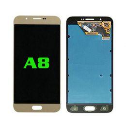 a8 lcd Скидка Новый высококачественный ремонт передних ЖК-дисплеев для Samsung Galaxy A8 LCD бесплатная доставка