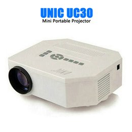 Wholesale Manual Controller - Wholesale- UNIC uc30 HD mini LED projector Native 640X480 HDMI video projector Three glasse lenses With Remote Controller proyector
