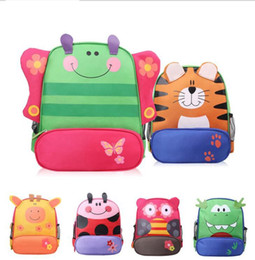 Wholesale Monkey Backpacks - children kids shoulder bags boys grils cute cartoon animals Monkey Dragon Printed backpacks Schoolbag 3D Cartoon Animal Bag Book Bag KKA1957