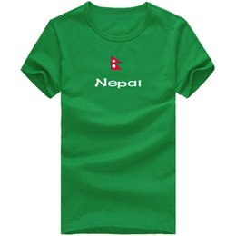 Wholesale Green Flash Games - Nepal T shirt Court games show sport short sleeve Cheerleader tees Nation flag clothing Unisex cotton Tshirt