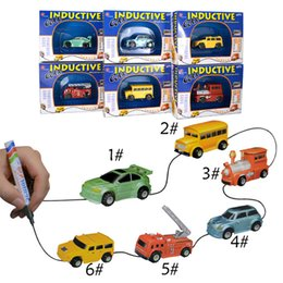 Wholesale Trucks Toys For Kids - Mini Magic Pen Inductive Toy Truck Inductive Car Magia Excavator Tank Construction Cars Truck Toys For Kids Gift