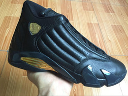 Wholesale Basketball Package - Newest Products Gold 14 DMP Basketball Shoes Deigning Moments Package Sneakers Sport Shoes Size US 8-13