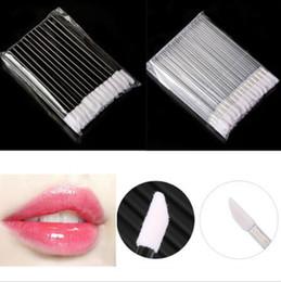 Wholesale Disposable Makeup Sponges - 10000pcs lot New Beauty Disposable Lip Gloss Applicator Wand Brush Lipstick Cosmetic Makeup Tool CCA6577 10000pcs
