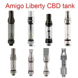 Wholesale Glasses Adjust - Original Amigo Liberty V6 V7 glass cartridge V9 clearomizer ceramic wickless atomizer Thick oil vaporizer adjust airflow Liberty V4 V5