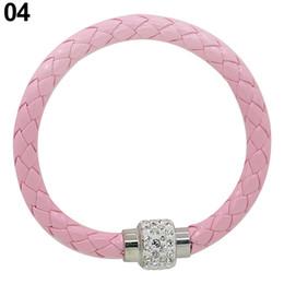 Großhandels-Heißer Verkauf heiße Verkäufe, die Punkrhinestone-Kunstleder-magnetische Schnalle Armband-Stulpe-Armband-Armband 6KGO 7FVG verkaufen von Fabrikanten