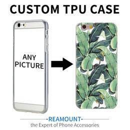 Maßgeschneiderte handytaschen online-100 stücke custom design diy transparente tpu case abdeckung für iphone 7 plus 6 s 5 s 7 6 plus kundenspezifische druck handy case
