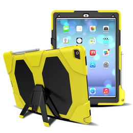 Wholesale pink keyboard case for ipad - Military Heavy Duty ShockProof Rugged Impact Hybrid Tough Armor Case For IPAD 2 3 4 AIR 1 AIR 2 PRO 9.7 IPAD 2017 9.7 PRO 10.5 1pc lot