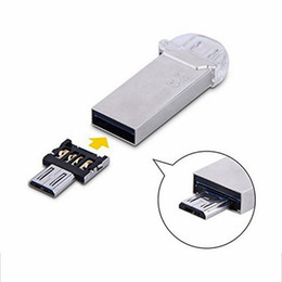 Wholesale Otg Cable Micro Usb Mini - 1000PCS Mini USB Flash Disk U Disk 5pin Micro USB OTG Cable Adapter Converter For Xiaomi HTC Samsung HuaWei Tablet Cabo