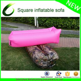 Wholesale Cheap Pouch Bags - Wholesale- Hot sale 2017 outdoor air bed air mattress inflatable lounger hangout lay back bag cheap pouch couch