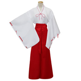 Wholesale Kikyou Cosplay - Malidaike Anime Japanese Kimono Costumes Inuyasha Kikyou Cosplay Costume Halloween Party Dress Up