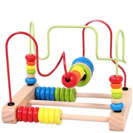 Wholesale Best Wooden Baby Toys - Best Quality and Hot Sale Children Kids Baby Colorful Wooden Around Beads Educational Toy Free Shipping