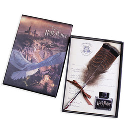 Wholesale Harry Potter Box Set - Harry Potter And The Cursed Child Feather Quill Pen Set Sealing Wax Set And Diary For Fans Gift