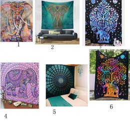 Wholesale Cotton Wallpaper - Hot Sale High Quality Polyester and Cotton Mandala Tapestry Bohemian Wall Hanging Gobelin Wallpaper Home Decor Tapestry Sale 17colors