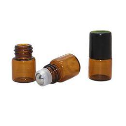 Wholesale Bottles Bulk Wholesale - 2ml Amber Glass Micro Mini Rollon Dram Glass Bottles with Metal Roller Balls - Refillable Aromatherapy Essential Oil Roll On - Bulk - 600pcs