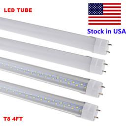 2019 lampes linéaires menées Les tubes de 4 pi LED T8 allument la lampe SMD2835 100LM / W d'ampoule de tube du tube linéaire LED du tube LED de 4 pieds 18W 22W 28W promotion lampes linéaires menées