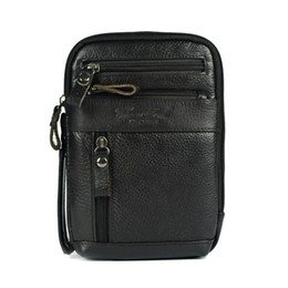 Wholesale Ipad Crossbody Bag Men - Wholesale-Genuine leather small messenger bags for men crossbody shoulder bag ipad mini handbags cowhide chest packs man shoulder bag