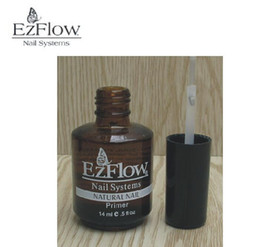 Wholesale Ezflow Nails - Wholesale-2Pc 14ML Ezflow Natural Nails Primer Nail Art Tool Products Acrylic Base Coat For UV GEL & Acrylic Tips