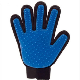 Wholesale Amazon Products - Hot Selling On Amazon Animal Handling Horse Cat Dog Brush Bath Massage True Touch Deshedding Pet Grooming Glove