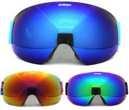 Wholesale Skateboards Snowboards - Wholesale- SOARED Men Women UV 400 Anti-fog Ski Goggles Snow Skiing Snowboard Skateboard Motocross Goggles Ski Eyewear