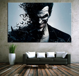 Wholesale Batman Movie Poster - Framed Movie Poster Batman joker Portrait Picture,HD Art Print On High Quality Canvas Home Wall Decor size can be customized