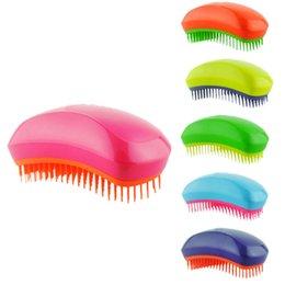 Wholesale Portable Salon - Salon Elite Tangle Detangling Hair Brush Portable Magic Antistatic TT comb Hair Probucts Detangle tangle Styling Tools Detangling 3006016