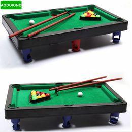 Wholesale Mini Pool Balls - Wholesale- MINI POOL TABLE Flocking Desktop Simulation Billiards Novelty Mini Billiards Table Sets Children's Play Sports Balls Sports Toys