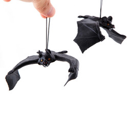 Wholesale Toy Bats Halloween - 7inch 5.5inch Jokes Gags Pranks Maker Trick Fun Novelty Funny Gadgets Blague Decoration Props Simulation Animals Bat Toy Halloween Toys