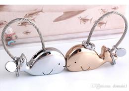 3D Whale Schlüsselanhänger für Liebhaber Geschenk Tasche Anhänger Paare Schlüssel Schmuck Schlüsselanhänger Auto KeyChain Chaveiro Innovative Artikel von Fabrikanten
