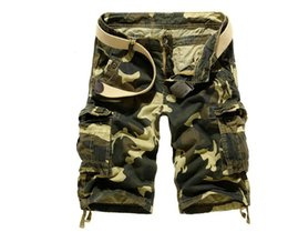 Wholesale Plus Size Active Wear - Wholesale-2016 summer leisure loose large size camouflage cargo shorts multi-pocket fashion women men's Works shorts out wear Men A1988