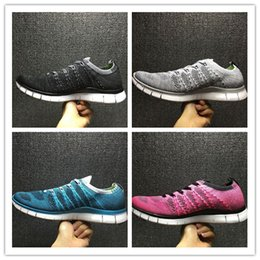 Wholesale Cheap Plus Size Flat Shoes - Wholesale Cheap 2017 High Quality FREE 5.0 FLY Runner Primeknit Men's Sports Running Shoes fly athletic shoes plus size Eur 36-45