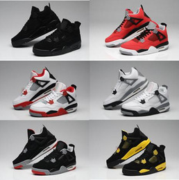 Wholesale Stealth Shoes - Discount Basketball Shoes IV 4 FEAR PACK Black Cool Grey Stealth Oreo Royalty White Cement 4s Running Shoes Athletics Sneaker Trainer