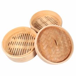 Wholesale Basket Bamboo - Kitchen Steam Cookware Bamboo Steamer Basket Cookware Fish Rice Dim Sum Basket Pasta Dumpling Cooker Lid Cooking Food Steamer