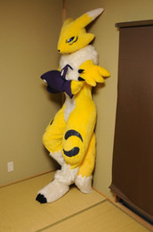 Wholesale Teams Mascot Costumes - OISK professional fox fursuit japanese renamon mascot costumes outfits adult character fancy dress costumes corporate school team mascots