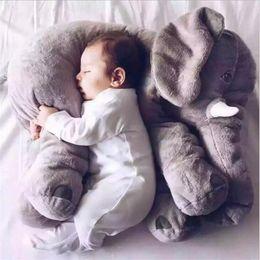 Wholesale Soft Plush Elephant Toy - 2017 elephant pillow baby doll children sleep pillow birthday gift INS Lumbar Pillow Long Nose Elephant Doll Soft Plush OTH557