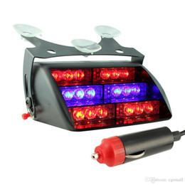 Wholesale Car Chuck - DHL Free 50pcs Car LED Emergency Lights 12V chuck LED Flash Lights 18 LEDS Free Shipping