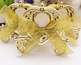 Wholesale Carriage Wedding Favours - Love Carriage Wedding Box Party Favours Gift Candy Chocolate Box Gold and Silver Box for Wedding Baby Birthday Party LLFA