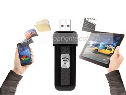 Wholesale Wifi Tablet Ipad - Wholesale-New Arrival 32gb Wireless USB Flash Drive Portable Voice Recorder Wifi U-disk 32gb for Phone Tablet Windows Pc Iphone Ipad Mac