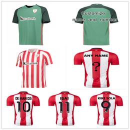 Wholesale Athletic Shirts Xxl - Athletic Bilbao Soccer Jersey Mens 19 MUNIAIN 20 ADURIZ 9 KIKE SOLA 8 ITTURASPE 10 DE MARCOS Football Shirt Uniform Kit