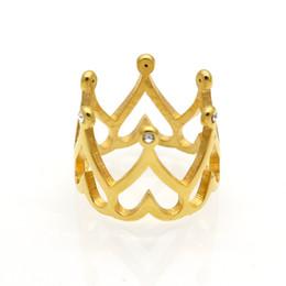 anelli di gioielli imitazione Sconti 2017 Nuovo arrivo Corona Anelli per le donne Gioielli Diamante d'imitazione Anello cuore Bijoux Vintage Anel Feminino per gioielli da sposa