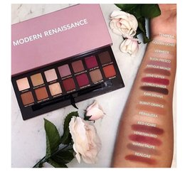 Wholesale Modern Shadow - 2017 Modern eyeshadow Palette 14colors limited eye shadow palette with brush pink eyeshadow palette with logo