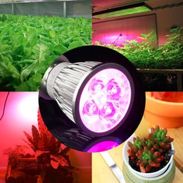 Wholesale Led Garden Plant Light - E27 GU10 LED Bulb Grow Lamp 15W Spotlight LED Plant Light Lamp Hydroponic Grow Light Bulbs Flower Garden Greenhouse LED Bulbs Aquarium Light